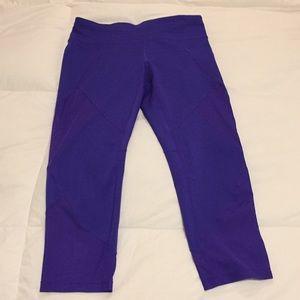 Athleta purple capris size M tall with mesh cutout